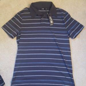 Apt 9 gray striped mens polo shirt sz small-Nwt